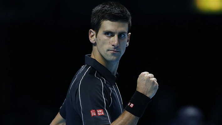 Novac Djokovic in action in London.