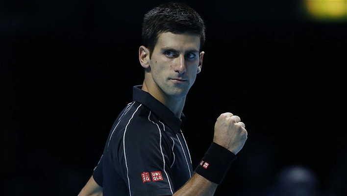 Novac Djokovic in action in London.
